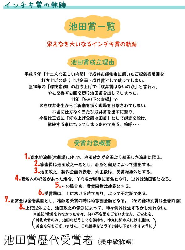 池田賞 インチキ賞の軌跡
